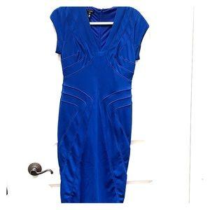 Escada Cobalt Body Con Dress